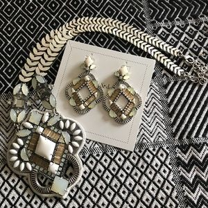 Statement necklace and earrings
